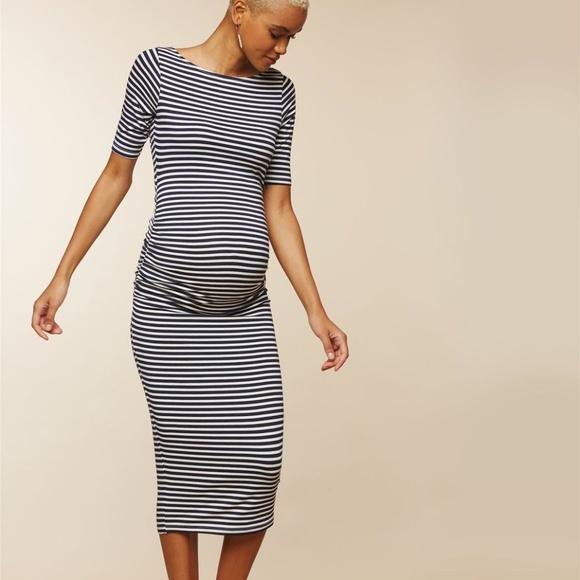 18fc7408fef MiMi Side Ruched Maternity Dress-sz L new w tags